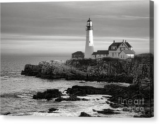 Keeper Canvas Print - Portland Head Light On Casco Bay by Olivier Le Queinec