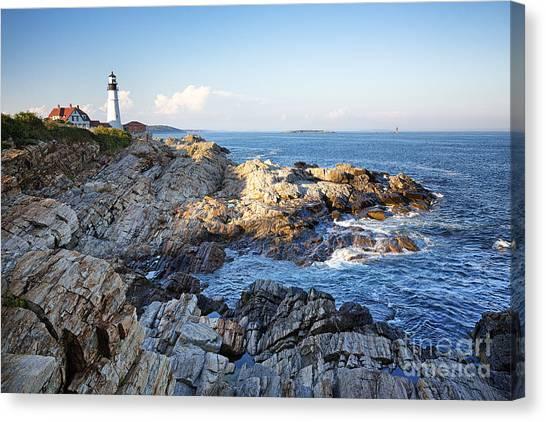 Portland Lighthouse Canvas Print - Portland Head Lighthouse by Jane Rix