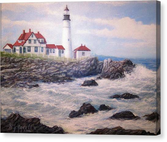 Portland Head Lighthouse Canvas Print by William H RaVell III