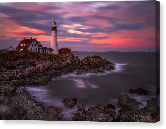 Portland Head Sunset Canvas Print