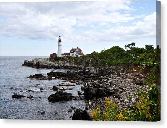 Portland Headlight II Canvas Print