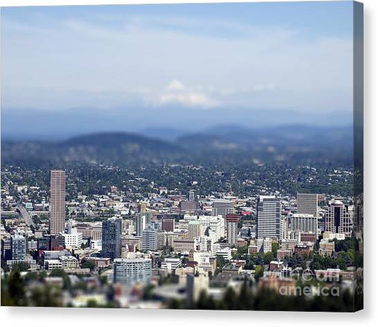 Portland In Perspective Canvas Print