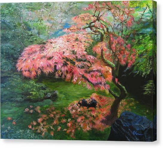 Portland Japanese Maple Canvas Print