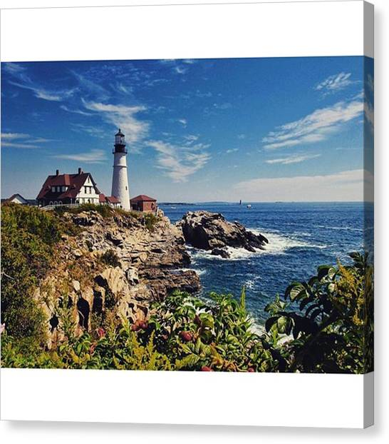 Seas Canvas Print - #portland #lighthouse #maine by Luisa Azzolini