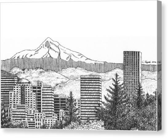 Portland-mt. Hood Canvas Print