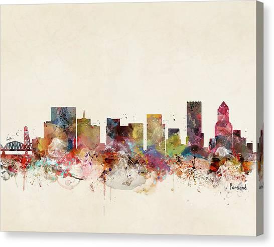 Portland Canvas Print - Portland Oregon Skyline by Bri Buckley