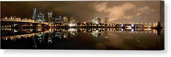 Portland Panorama Canvas Print