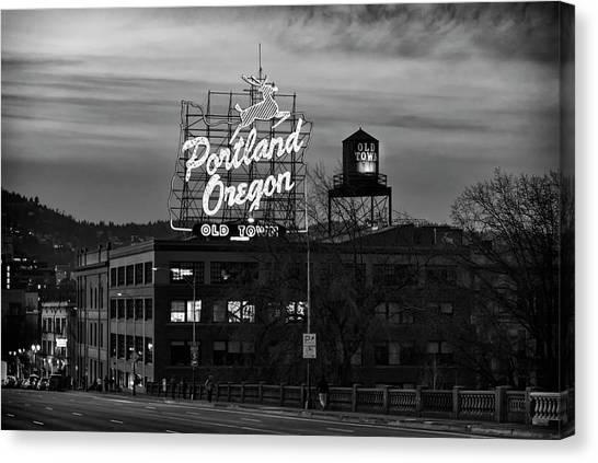 Portland Signs Canvas Print