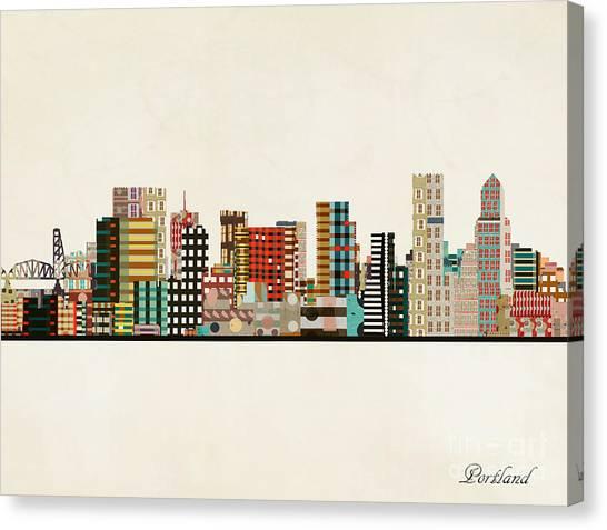 Portland Canvas Print - Portland Skyline by Bri Buckley