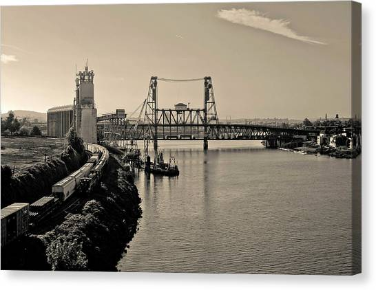 Portland Steel Bridge Canvas Print
