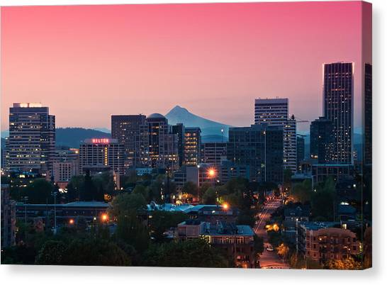 Portland Sunrise Canvas Print