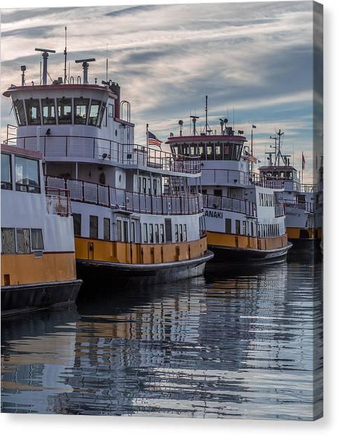 Rocky Maine Coast Canvas Print - Portlands Casco Bay Lines by Capt Gerry Hare