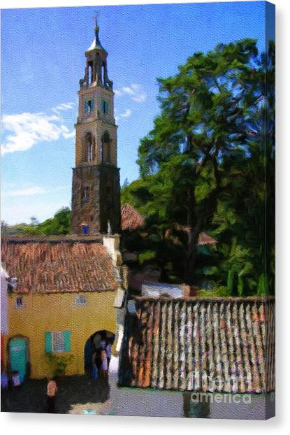 City Landscape Canvas Print - Portmeirion, Wales. Home Of The Prisoner by Sarah Kirk