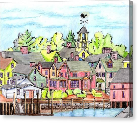 Portmouth Nh Harbor Canvas Print