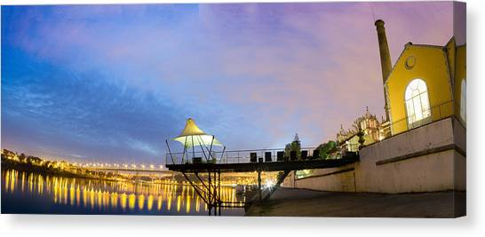 Porto Night At @ Pousada Porto Canvas Print