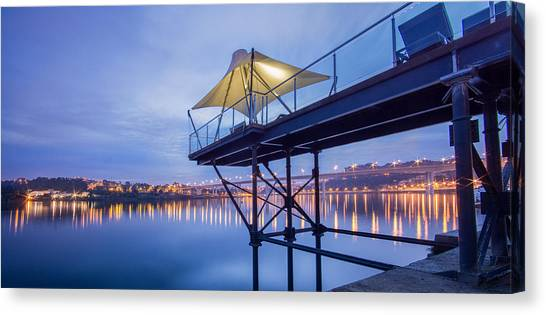 Porto Night Out Canvas Print by Bruno Rosa