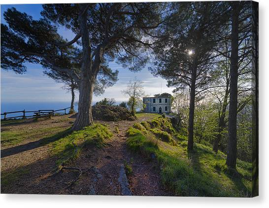 The House Of The Rising Sun In Portofino Canvas Print