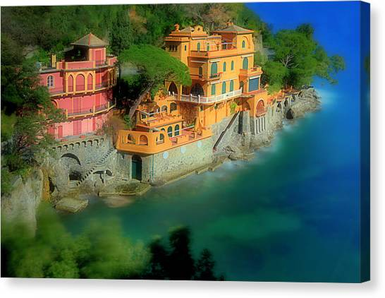 Portofino Park Bay Canvas Print