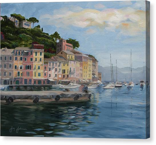 Portofino Port Canvas Print by Jay Johnson