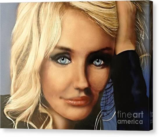 Cameron Diaz Portrait  Canvas Print