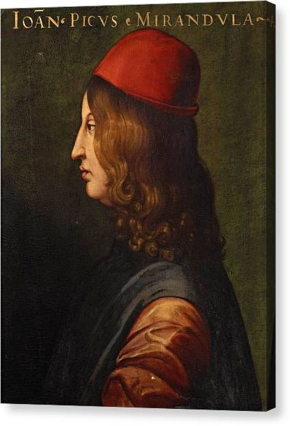 The Uffizi Gallery Canvas Print - Portrait From The Uffizi  by MotionAge Designs