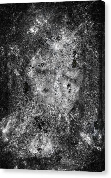 Portrait In Black Canvas Print by Randy Steele