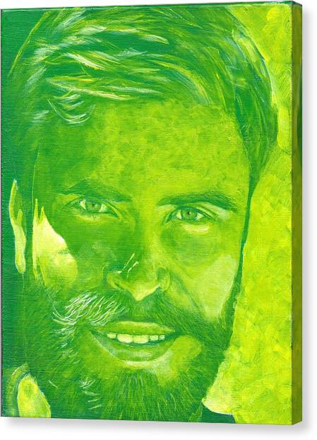 Portrait In Green Canvas Print