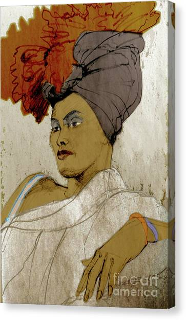 Portrait Of A Caribbean Beauty Canvas Print