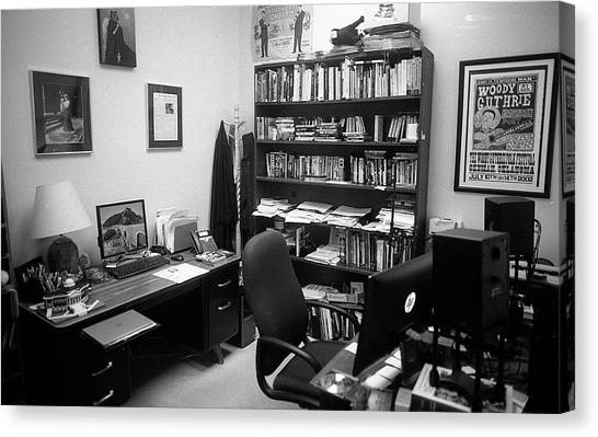 Portrait Of A Film/tv Professor's Office Canvas Print