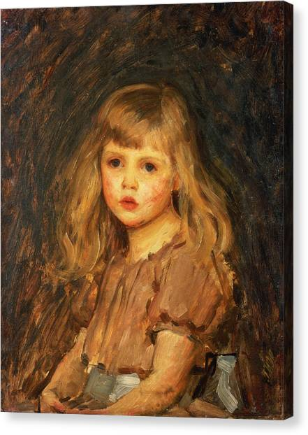 Girl Canvas Print - Portrait Of A Girl by John William Waterhouse