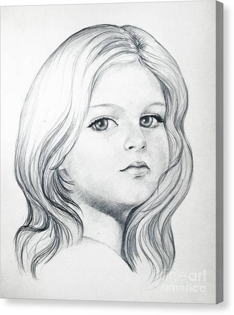 Portrait Of A Girl Canvas Print by Stoyanka Ivanova
