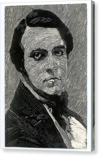 Portrait Of A Man Canvas Print by Robert Bissett