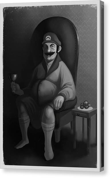 Portrait Of A Plumber Canvas Print by Michael Myers