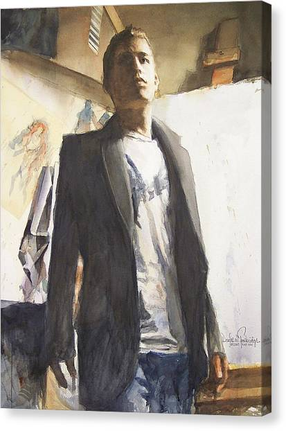 Portrait Of A Prodigy Canvas Print by Douglas Trowbridge