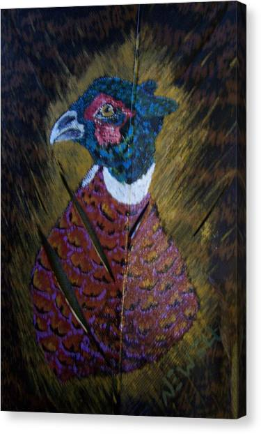 Portrait Of A Ringneck Canvas Print by Chris Newell