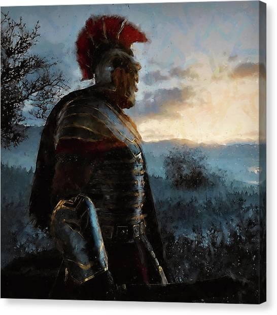 Portrait Of A Roman Legionary - 34 Canvas Print