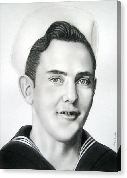 Portrait Of A Sailor Canvas Print by Nicole I Hamilton