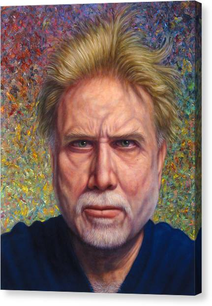 Tongue Canvas Print - Portrait Of A Serious Artist by James W Johnson
