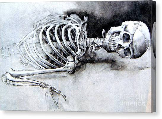 Portrait Of A Skeleton Canvas Print