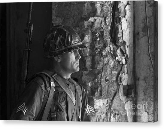 Cold War Canvas Print - Portrait Of A Soldier 1961 by The Harrington Collection