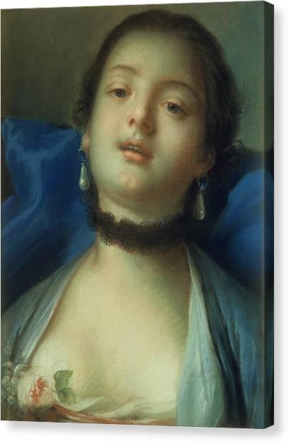 Boucher Canvas Print - Portrait Of A Woman  by Francois Boucher