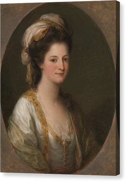 Neoclassical Art Canvas Print - Portrait Of A Woman, Traditionally Identified As Lady Hervey by Angelica Kauffman