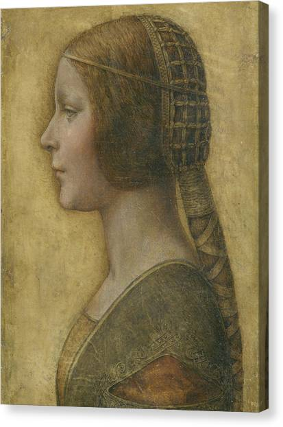 Portrait Of A Young Fiancee Canvas Print