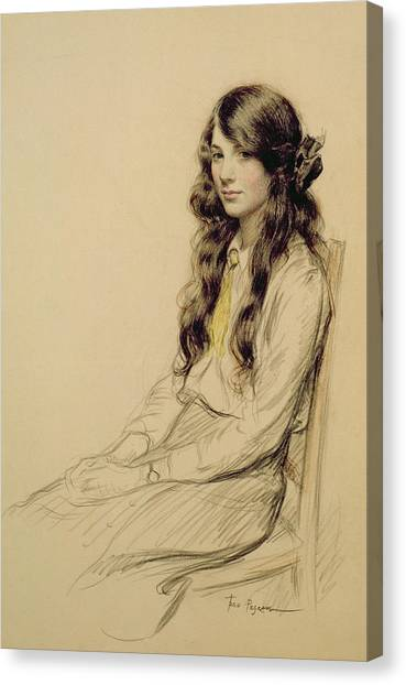 People Canvas Print - Portrait Of A Young Girl by Frederick Pegram