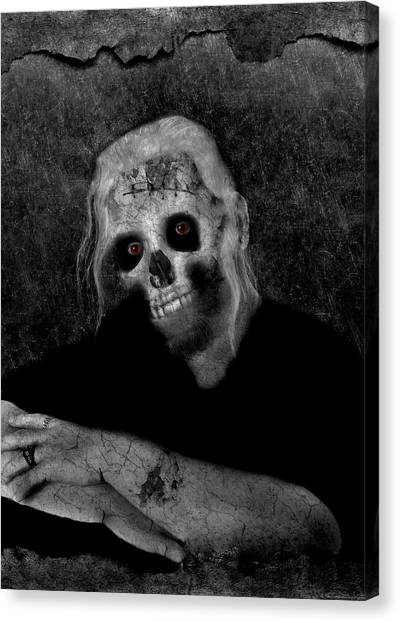 Portrait Of A Zombie Canvas Print