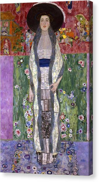 Adele Canvas Print - Portrait Of Adele Bloch-bauer II by Gustav Klimt