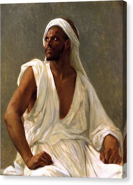 034ed8f1a3e4 Alexandre Cabanel Canvas Print - Portrait Of An Arab by Alexandre Cabanel
