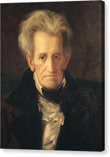 Worried Canvas Print - Portrait Of Andrew Jackson by George Peter Alexander Healy