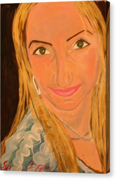 Portrait Of Artists Agnes  Canvas Print by Shellie Gustafson