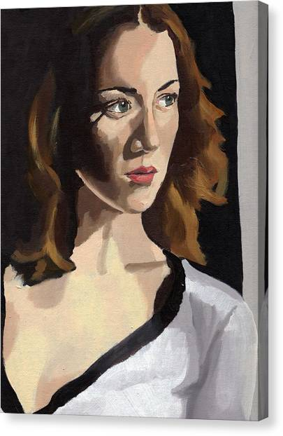 Portrait Of Becca Canvas Print
